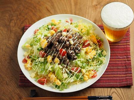 焼き肉サラダスパゲティ015