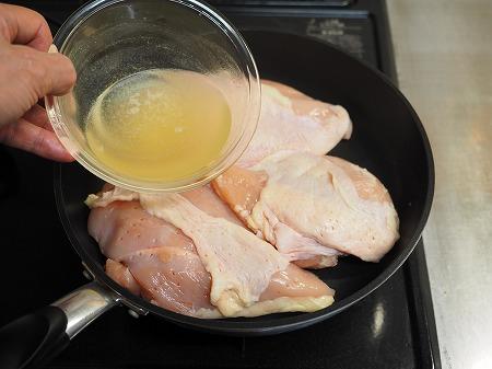 フライパンで作り置きサラダチキ022