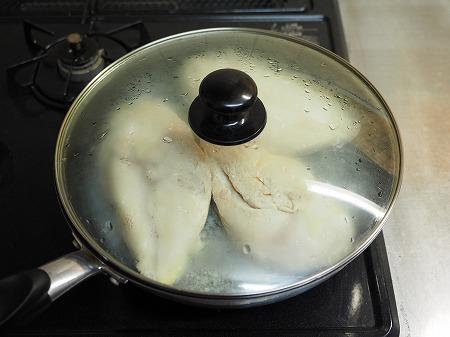 フライパンで作り置きサラダチキ034