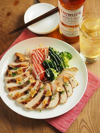 鶏むね肉のウイスキーチキン032