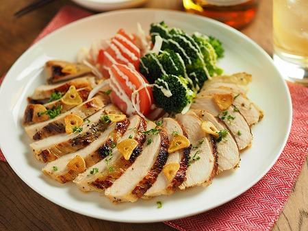 鶏むね肉のウイスキーチキン013