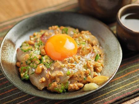 ぼら刺身のぽん酢納豆和え011