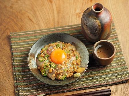 ぼら刺身のぽん酢納豆和え018