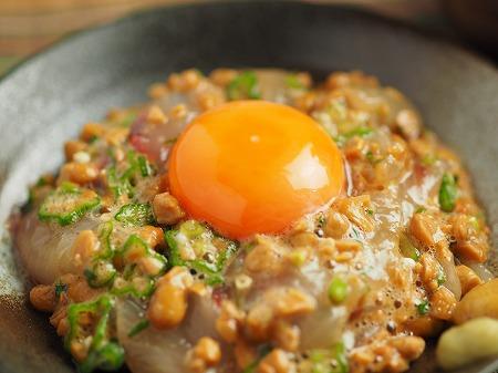 ぼら刺身のぽん酢納豆和え022