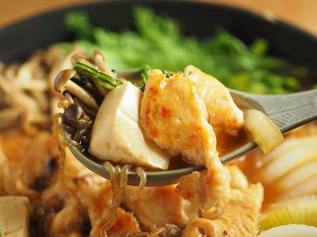 鶏むね肉のフライパンすき焼き031