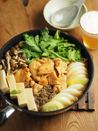 鶏むね肉のフライパンすき焼き006