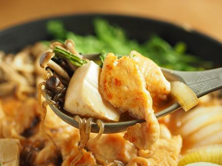 鶏むね肉のフライパンすき焼き035