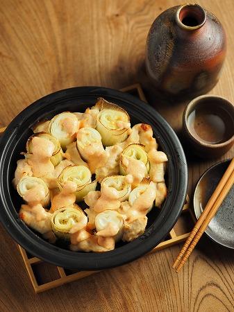 長ねぎと鶏むね肉の明太マヨ021