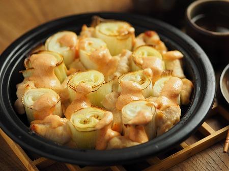長ねぎと鶏むね肉の明太マヨ025