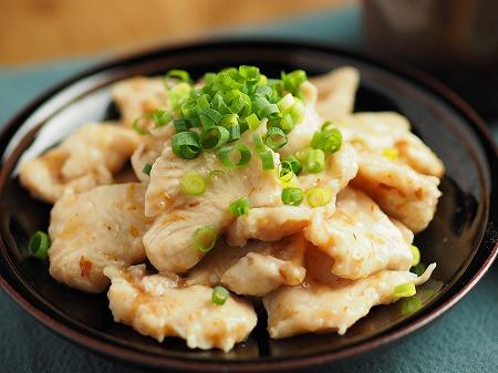 鶏むね肉水晶鶏梅肉和え021