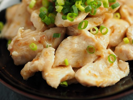 鶏むね肉水晶鶏梅肉和え026