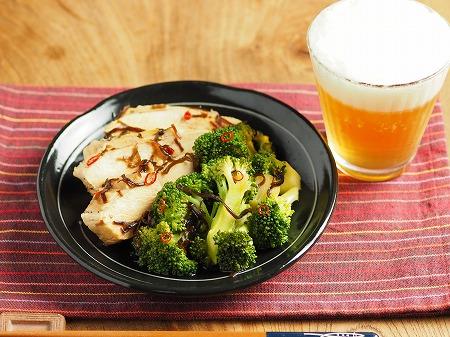 ブロッコリーと鶏むね肉の酢漬006