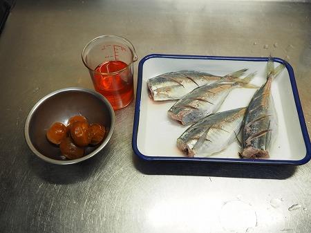 アジの梅酒煮033
