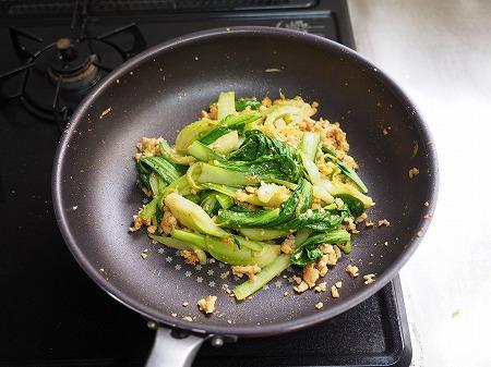 青梗菜の坦々風ラーメン035
