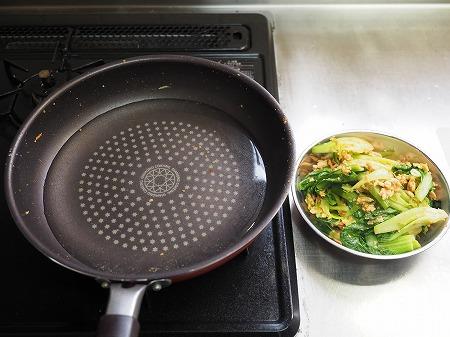 青梗菜の坦々風ラーメン036