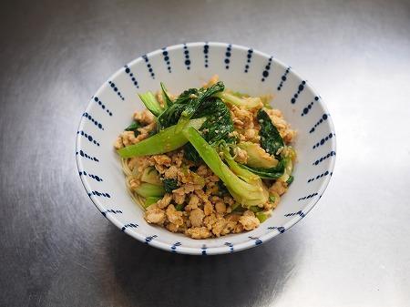 青梗菜の坦々風ラーメン041