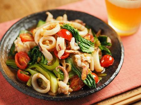 イカと青梗菜のオイスターソー017