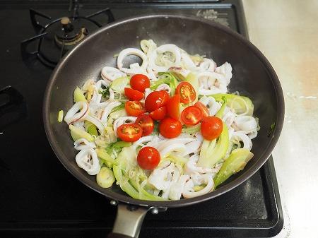 イカと青梗菜のオイスターソー048