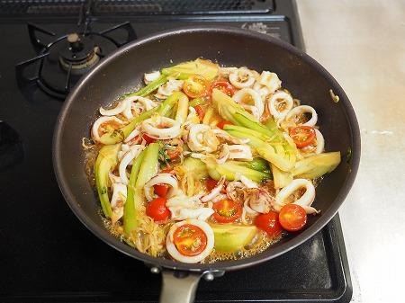イカと青梗菜のオイスターソー051