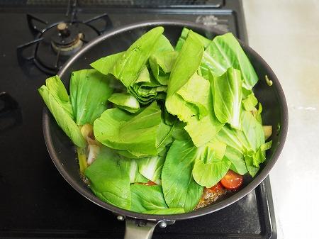 イカと青梗菜のオイスターソー052