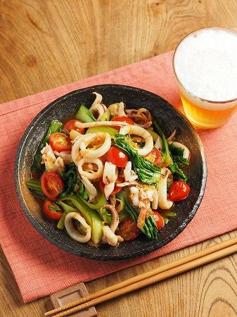 イカと青梗菜のオイスターソー012