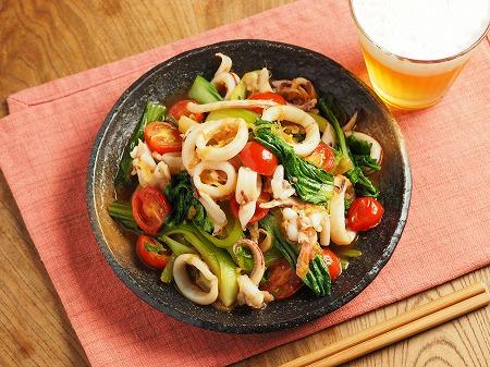 イカと青梗菜のオイスターソー013