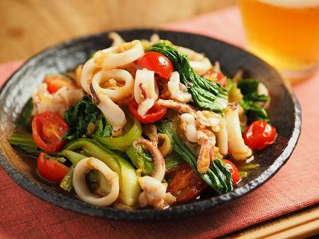 イカと青梗菜のオイスターソー015