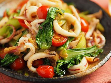 イカと青梗菜のオイスターソー021