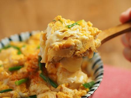 豆腐の卵とじ丼025
