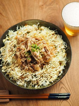 キャベセンと豚こま炒めのソーヨ005