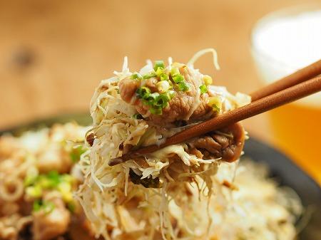 キャベセンと豚こま炒めのソーヨ018