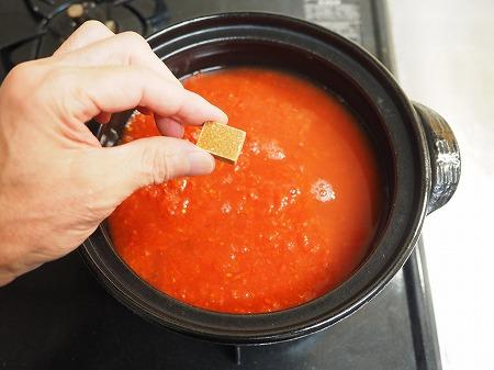 鶏むね肉と茄子のトマト鍋036