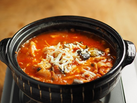 鶏むね肉と茄子のトマト鍋023