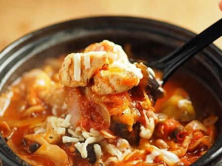 鶏むね肉と茄子のトマト鍋024