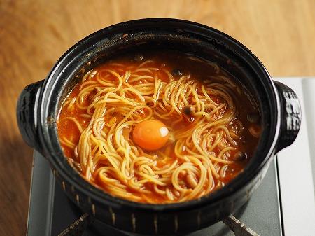 トマト鍋締めのパスタ008