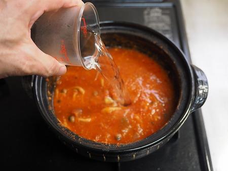 トマト鍋締めのパスタ039