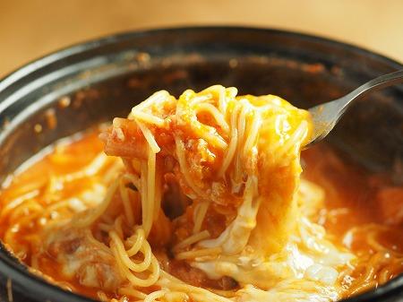 トマト鍋締めのパスタ035