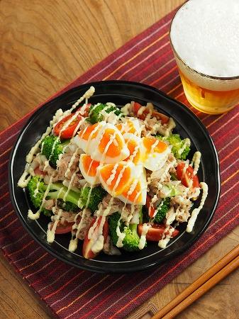 ブロッコリーとゆで卵のツナマヨ015