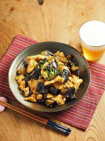 鶏むね肉の茄子味噌炒め011