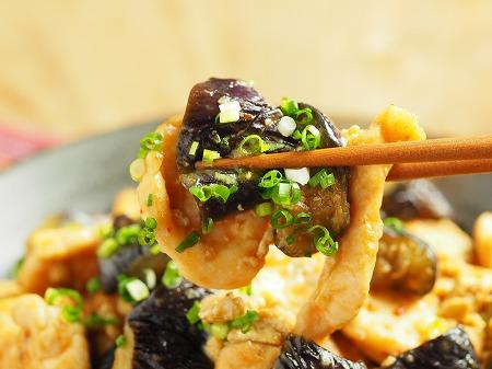 鶏むね肉の茄子味噌炒め033