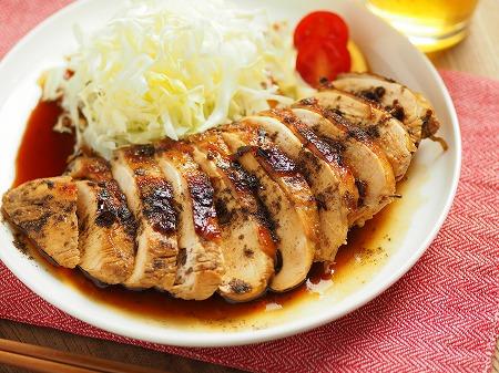 鶏むね肉の花椒照り焼き012
