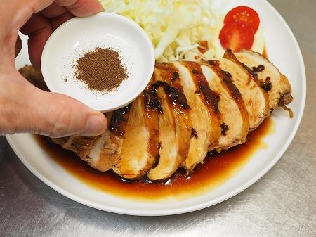 鶏むね肉の花椒照り焼き075