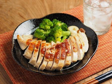 鶏むね肉の梅肉焼き001