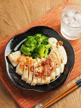 鶏むね肉の梅肉焼き007