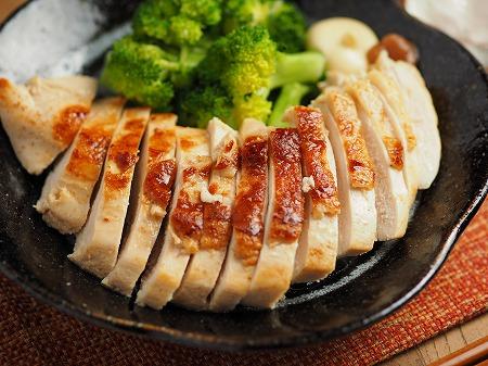 鶏むね肉の梅肉焼き014