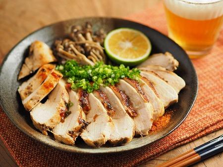 鶏むね肉の塩昆布カボス焼き009