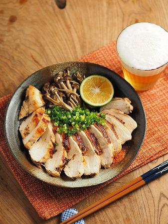 鶏むね肉の塩昆布カボス焼き014