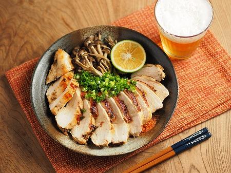 鶏むね肉の塩昆布カボス焼き013