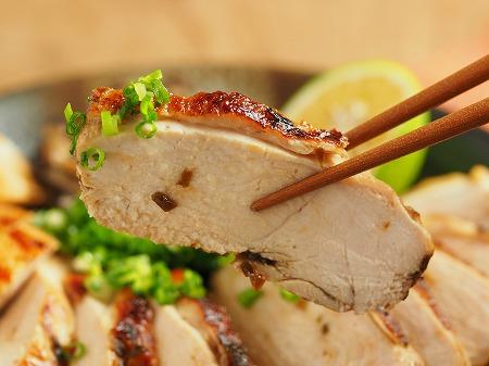 鶏むね肉の塩昆布カボス焼き032