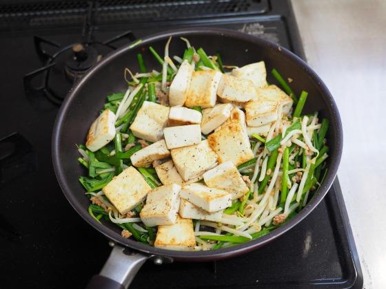 豆腐にらもやし炒め015
